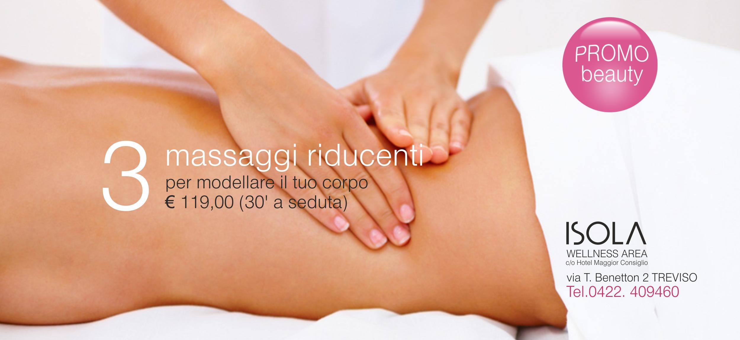 3 massaggi riducenti